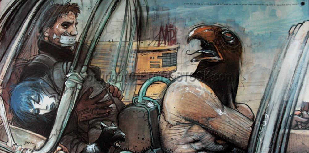 Past, Present, and Future in Enki Bilal's Graphic Novels