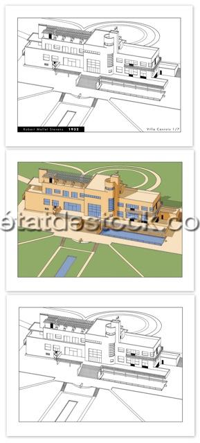jean pierre lyonnet portfolio robert mallet stevens la villa cavrois 1932 n s version luxe. Black Bedroom Furniture Sets. Home Design Ideas