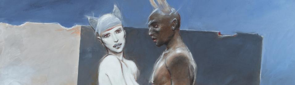 Enki Bilal-white queen black king-Epreuve pigmentaire