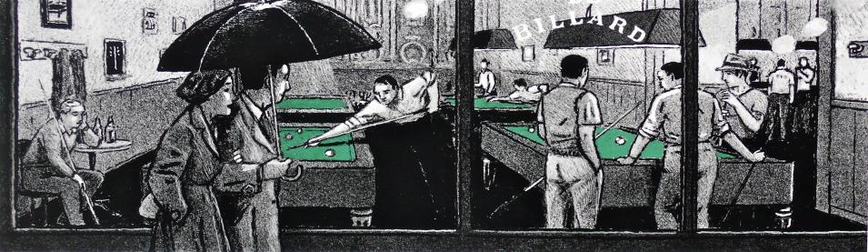 "Götting ""Panoramique billard"" estampe pigmentaire 50ex"