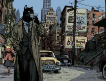 "GUARNIDO . Affiche  - BLACKSAD ""New York»"