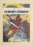 "Jacobs . Affiche édition d'art ""Le secret de l'Espadon"""